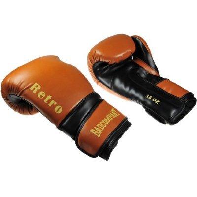 Bad Company Profi Retro PU Boxhandschuhe schwarz/braun - Klassische Boxhandschuhe, 14 Unzen (OZ)