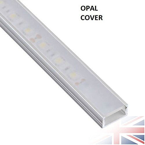 Led channel amazon 5x 1 meter aluminium led linemini profile with opal coverdiffuser channel for 12v 24v 5050 5630 3528 strip lights single color rgb white kitchen cabinet aloadofball Gallery