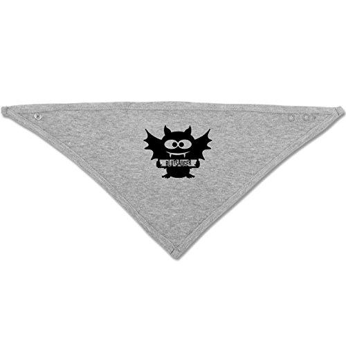Anlässe Baby - Fledermaus - Unisize - Grau meliert - BZ23 - Baby-Halstuch als Geschenk-Idee für Mädchen und (Kostüm Faire Vampir Eine De)