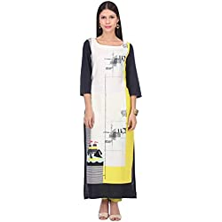 W for Woman Women's Straight Kurta (16AU15908-58472-16-WHITE)