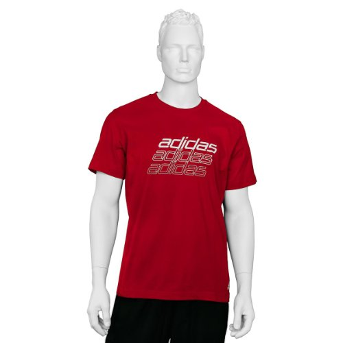 ADIDAS T-Shirt Graphic Tentro light scarlet
