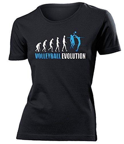 Volleyball, motivi a scelta, felpa con cappuccio, maglia a maniche lunghe, sacca da palestra, tazza da caffè, tazza da caffè damen t-shirt schwarz modell 542 s