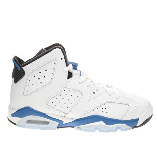 info for 7bb28 fe776 Nike Air Jordan 6 Retro BG, Chaussures garçon, (Blanc Sport Bleu-