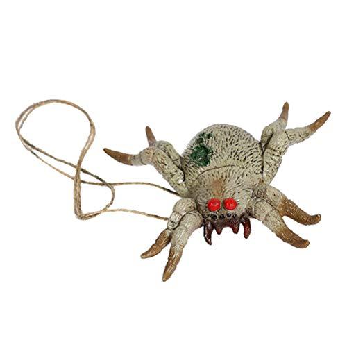 Amosfun Spider Gruselornament Halloween Horro Hängedeko Party Requisiten (Halloween Spider Tür-dekoration)