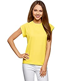 oodji Ultra Donna T-Shirt in Cotone Basic
