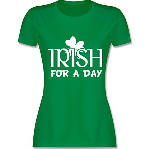 St. Patricks Day - Irish for A Day St Patricks Day - S - Grün - L191 - Damen T-Shirt ()