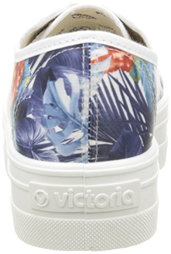 victoria Basket Flores Y Corazones Plataforma Unisex-Erwachsene Sneaker Weiß - Blanc (20 Blanco)