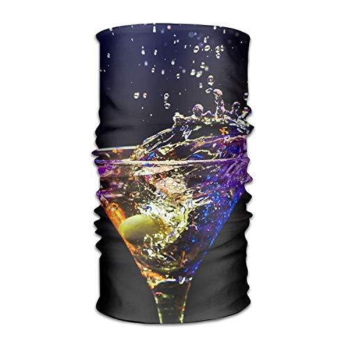VICKKY Headwear Headband Cocktail Olive Glass Spray Head Scarf Wrap Sweatband Sport Headscarves For Men Women