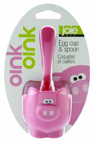 Joie Oink Oink Eierbecher und Löffel, Pink