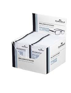 Durable 585302 Lingette Spéciale pour Nettoyer les Verres de Lunettes et Optiques Appareils Photo en Sachet Individuel Boîte de 100