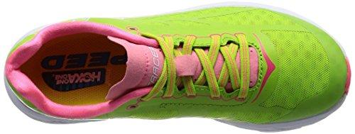 Hoka One One Tracer Women's Laufschuhe - SS17 Grün (bright green / neon pink)