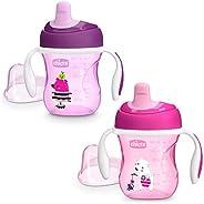 Chicco Training Cup Bicchiere Antigoccia Bambini 200 ml, Tazza 6+ Mesi per Imparare a Bere, con Beccuccio Ergo