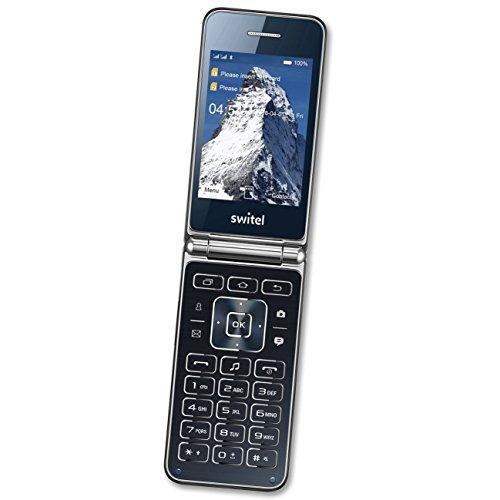 Switel M600D Dual SIM Klapphandy, kontraststarkes Farbdisplay, große beleuchtete Tasten, Vibrationsalarm, sportlicher Look