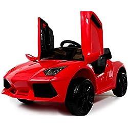 Lamborghini Style 12v voiture électrique pour enfants avec batterie 12v et télécommande - Rouge