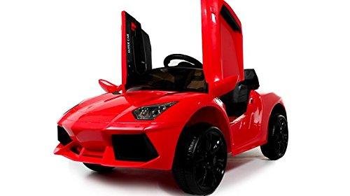Lamborghini electrique enfant Style 12v voiture électrique pour enfants avec batterie 12v et télécommande - Rouge