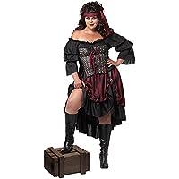 Women's Pirate Costume (Plus Size) - Dress 16 to (Sexy Del Wench Del Pirata)
