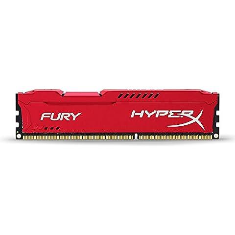 Kingston HyperX Fury - Memoria RAM (DDR3, 1866 MHz, 8 GB, CL1), rojo