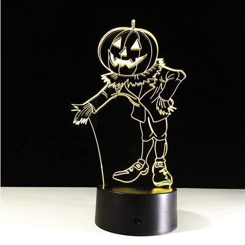 Halloween Kostüme Kürbisse 3D Nachtlicht Acylic Visuelle LED USB Schreibtisch Tischlampe Für Hauptatmosphäre Lampe Baby Schlaf Beleuchtung