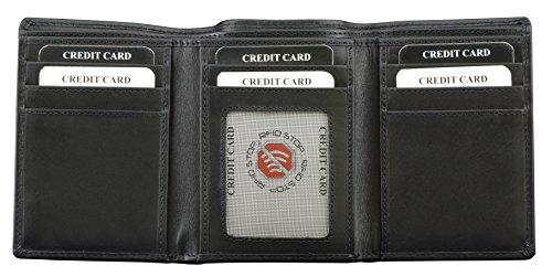 Oyster RFID Schutzbrieftasche mit Kartenhaltern, Schwarz Schwarz
