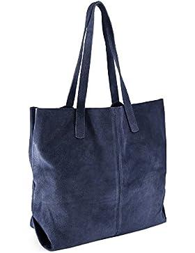 Leder Shopper Tasche Ledertasche Beuteltasche Lederhandtasche Wildleder Handtaschen Schultertasche Damentasche...