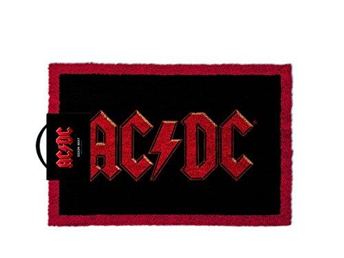 AC/DC Logo-Tappetino per ingresso, in fibra di cocco, colore: multicolore