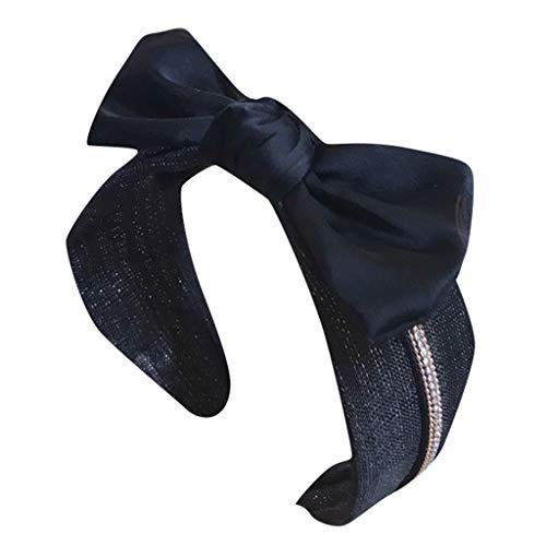 iCerber Bogen Knoten Stirnband Elastische Breite Stirnbänder für Damen Mädchen Kostüm Zubehör Diamant Haarschmuck, Exquisite schmuck,im Retro Style,Haarband 2019 Neue