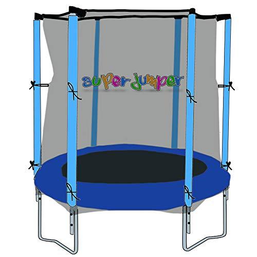 Super Jumper | Combo Trampolin mit Sprungmatte, Sicherheitsnetz und Randabdeckung | Mini Rund Inground Rechteck | Gartentrampolin | Outdoor Trampolin | Indoor Trampolin | GS und TÜV Zertifiziert