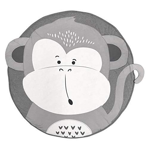 LMXWHN Tappetini da Gioco in Cotone Neonato Morbido Cartone Animato Stampa Animalier Gioco Tappetini per Camerette Tappeti per Bambini Striscianti Gioco Tappeti 90Cm-Monkey
