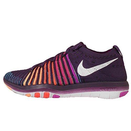 Nike Damen Free verwandeln Flyknit Training Schuhe, Violett (Grand Purple/White-Hyper Violet-total Crimson), 43 B(M) EU B Free Schuhe