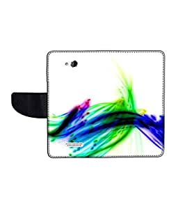 KolorEdge Printed Flip Cover For HTC Desire 616 Multicolor -(50KeMLogo12376HTC616)