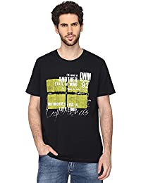 STOP To Start By Shoppers Stop Mens Round Neck Printed T-Shirt