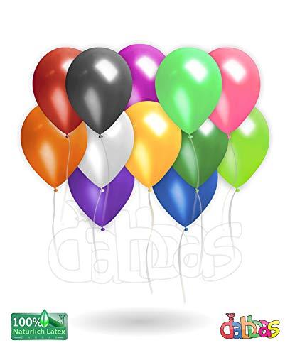 Dabbas Luftballons Mix 50 Stück,Premium Latex Glitter Ballons (3.2G),Heliumluftballons für Baby Shower Mädchen Kinder Geburtstag Party Hochzeit,Feste, feiern,12 Zoll, Hohe Qualität (Mix)
