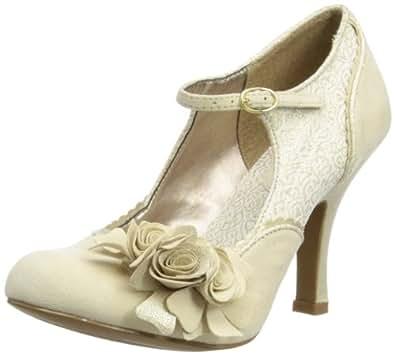 Ruby Shoo Womens Alice Court Shoes 08534 Cream 5 UK, 38 EU