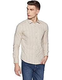Diverse Men's Striped Slim Fit Cotton Casual Shirt