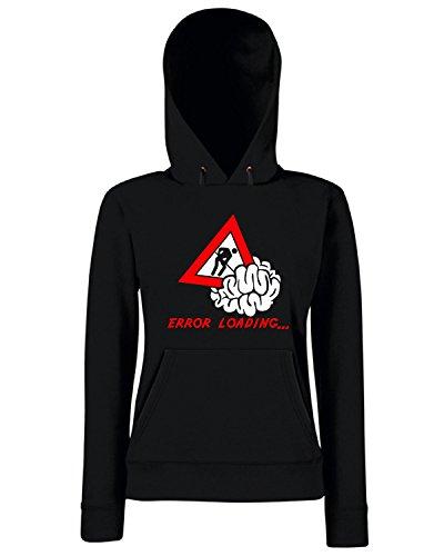T-Shirtshock - Sweats a capuche Femme T0149 error loading fun cool geek Noir