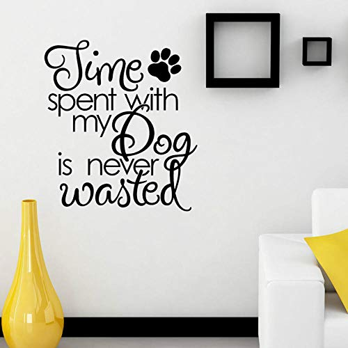 WandaufkleberZeit Mit Meinem Hund Aufkleber Paw Prints Dekoration Pvc Wandaufkleber 57,2 Cm * 64 Cm -