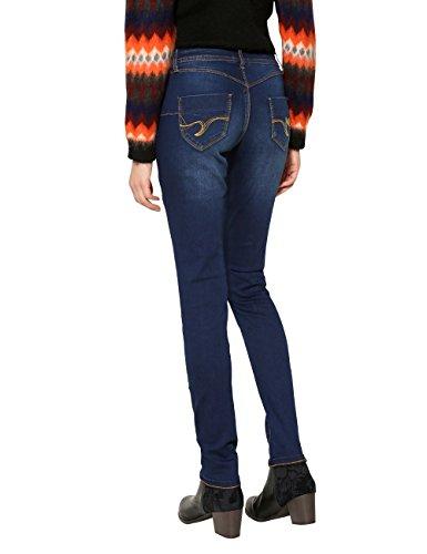 Desigual Damen Skinny Jeans Denim_second Skin Blau (Denim MEDIUM DARK 5161)