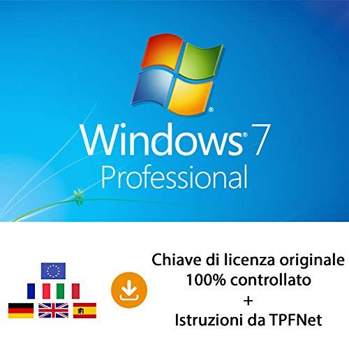 MS Windows 7 Pro 32 bit e 64 bit - Chiave di Licenza Originale per Posta e E-Mail + Guida di TPFNet - Spedizione max. 60min