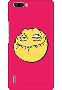 AMEZ designer printed 3d premium high quality back case cover for Huawei Honor 6 Plus (Awesome Animation Pink)