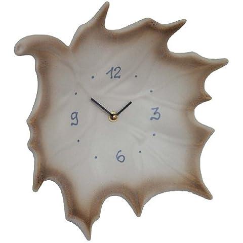Terra tk043 - Reloj de pared para cocina (cerámica), diseño de hoja de arce