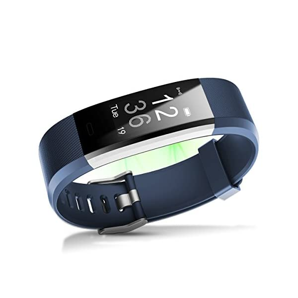 Proze Fitness Tracker Band HR Activity Tracker Watch With Heart Rate Monitor Pedometer IP67 Waterproof Sleep Tracker GPS Wearable Smart Bracelet For IOS Android Smartphones For Women Men Kids