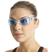 Speedo Futura Plus - Gafas de natación unisex, color transparente / azul, talla única