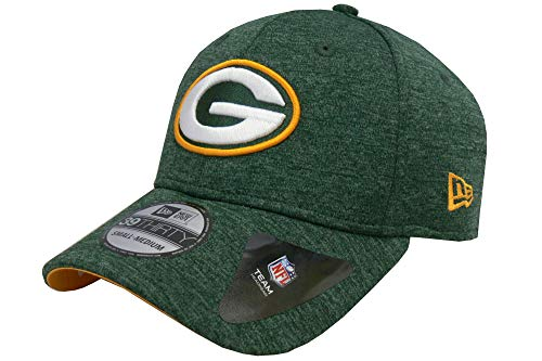 New Era Baseball Cap 39Thirty Green Bay Packers Shadow Tech OTC grün gelb Teamfarben Gr. M/L Green Baseball-kappe