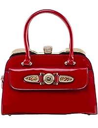 Luis Mekal Red Luxury Designer Stylish Unique Fashion Women Girl Party Wedding Bridal Casual Hand Bag Purse Clutch...