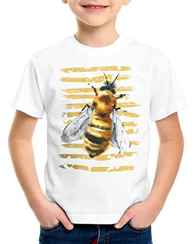 style3 Biene T-Shirt für Kinder Urlaub Bauernhof Honig imker, Größe:128 -