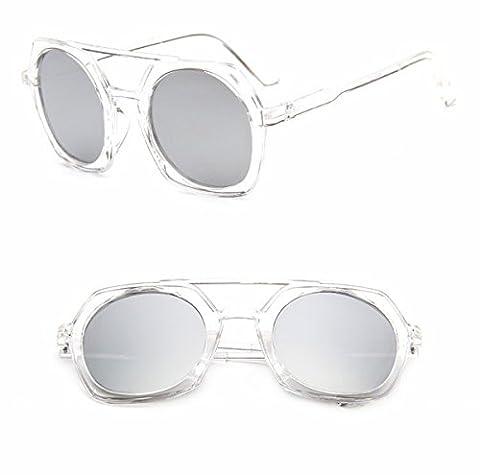 sonnenbrille arbeiten polygonale sonnenbrille Männer und frauen Doppelte sonnenbrille Große rahmen sonnenbrille transparenter kristall