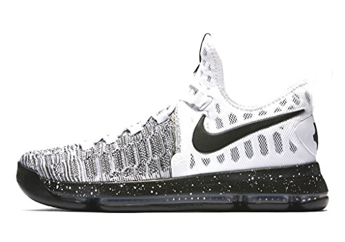 Nike Zoom KD 9, Chaussures de Sport-Basketball Homme White Black 100