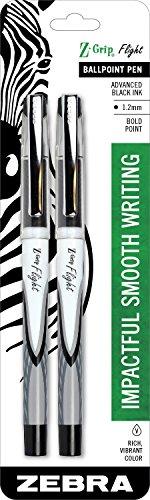 Zebra z-grip Flight stick Smooth Advanced Ink Low Viscosity 1.2mm nero–2pezzi