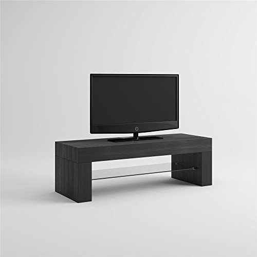 MOBILIFIVER Evo Meuble Porte TV, Bois, frêne Noir, 112 x 40 x 36 cm