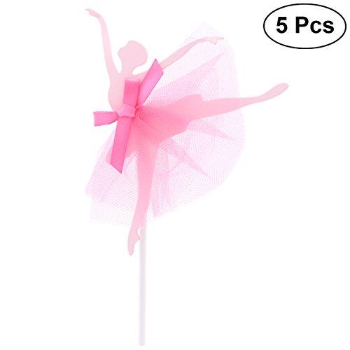 BESTOYARD 5er Ballerina Mädchen Cupcake Topper Kuchen Dekoration für Hochzeit Bridal Shower Geburtstag Party